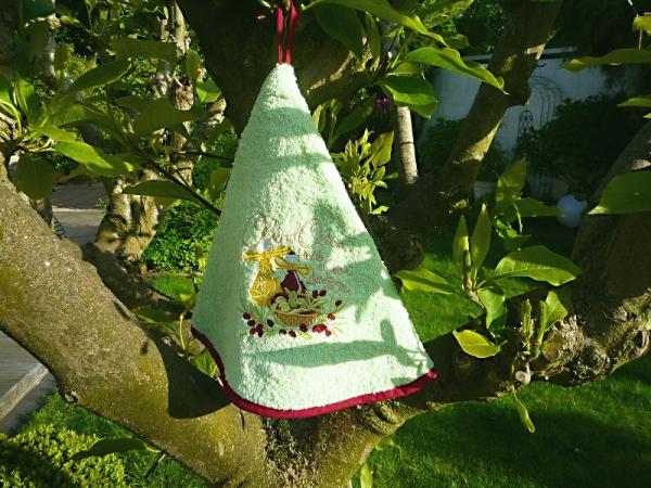 Rundhandtuch Provence 70 cm rund Bouquet Olives vert clair