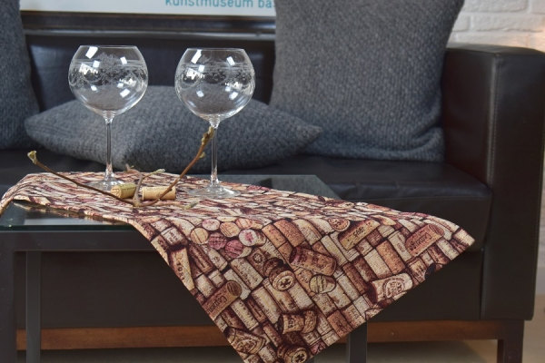 Für Wein-Liebhaber! – Rustikaler Gobelin-Tischläufer Vignerons
