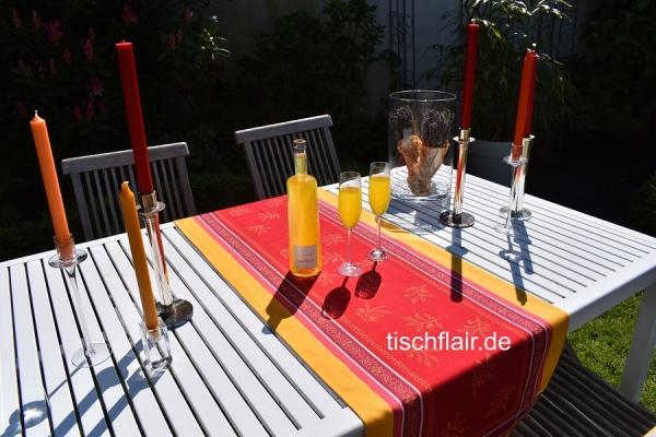 Farbfrohes Rendezvous... - Tischläufer Cannes rouge jaune