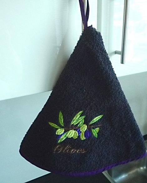 Rundhandtuch Provence 70 cm rund Olives gris foncé