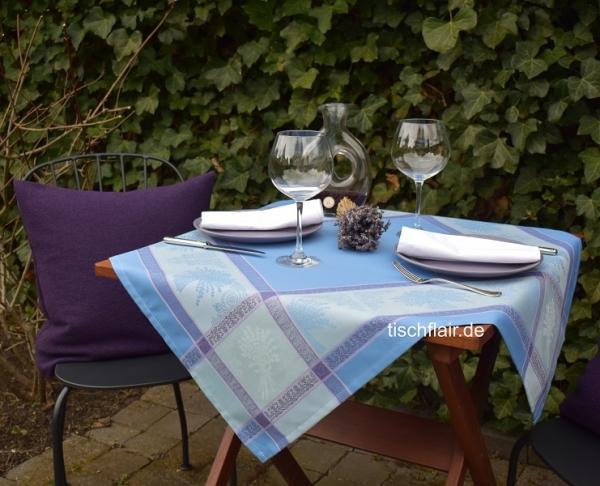 Viva Violett! – Pflegeleichte Tischdecke Laurin in violett mit Lavendel