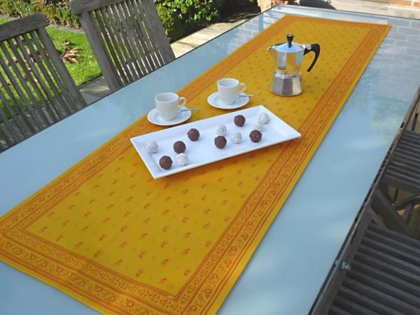 Tischläufer Provence 45x160 cm Baumwolle Jacquard Cigale jaune