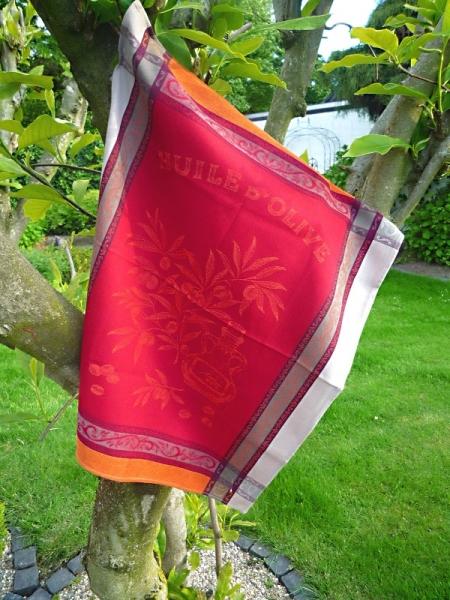 Geschirrtuch Jacquard Baumwolle 50x70 cm Menton rouge