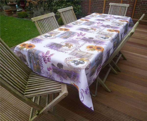 Tischdecke Provence 150x240 cm Oliven Lavendel aus Frankreich