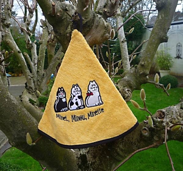 Rundhandtuch Provence 70 cm rund Chats jaune