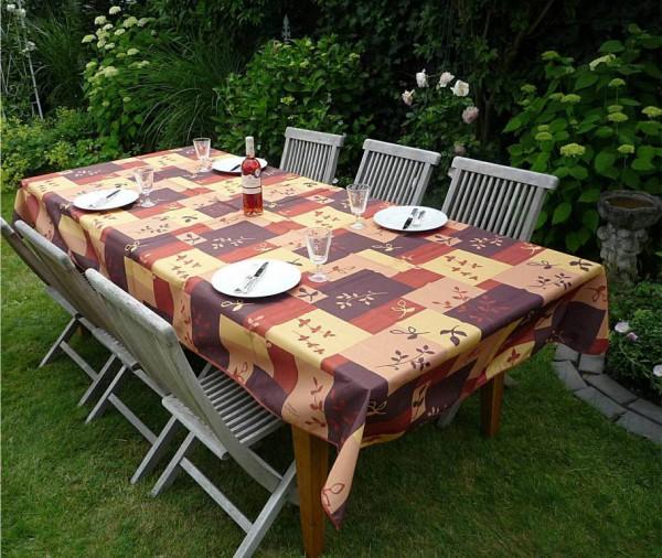 Tischdecke Provence 150x300 cm beige braun Ranken aus Frankreich
