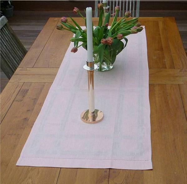 Rosé smoke – pudriges Rosé... - Heller Leinen-Tischläufer Fleurs peche