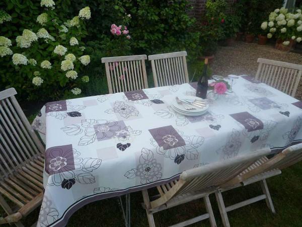 Tischdecke Provence 150x240 cm Blattmotive beige aus Frankreich
