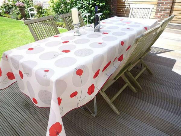 Tischdecke Provence 150x200 cm Mohnblumen aus Frankreich bügelfrei