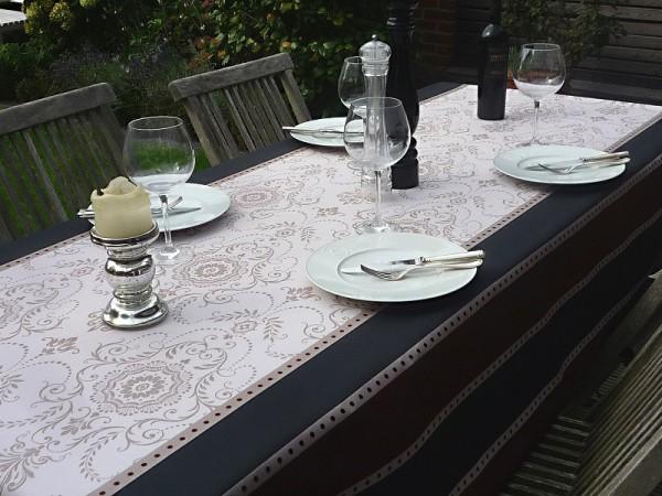 Tischdecke Provence 150x240 cm creme grau braun Ornamente aus Frankreich