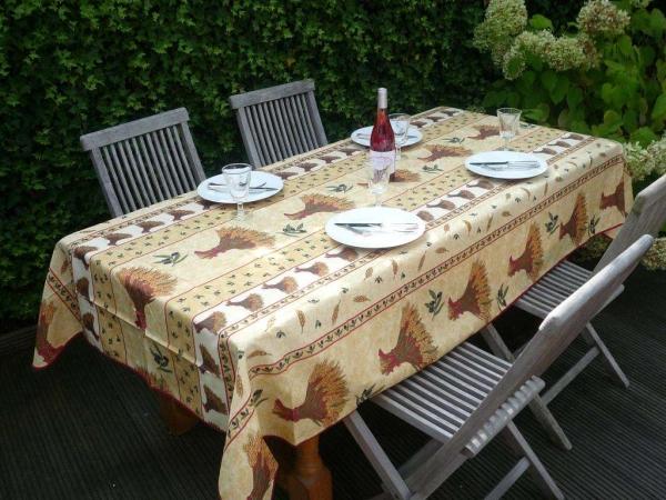 Tischdecke Provence 150x240 cm creme Ährenmotive aus Frankreich