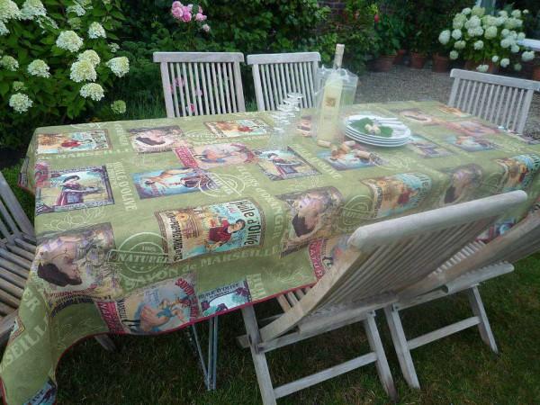 Das ist der Vintage-Style! – Pflegeleichte grüne Tischdecke