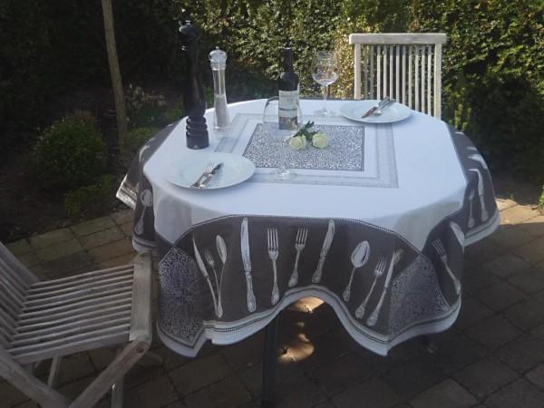 Bonjour - zu Tisch - Provence Gobelin Jacquard Tischdecke creme Rochelle aus Frankreich
