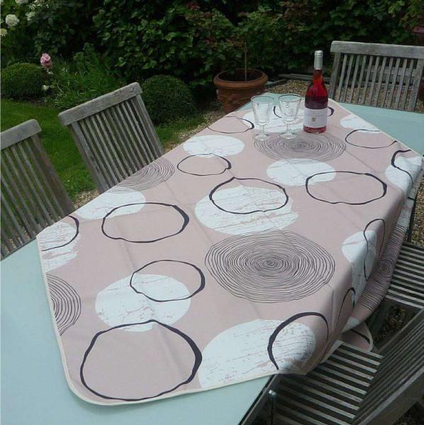 Tischdecke Provence 130x150 cm beige Kreismuster aus Frankreich