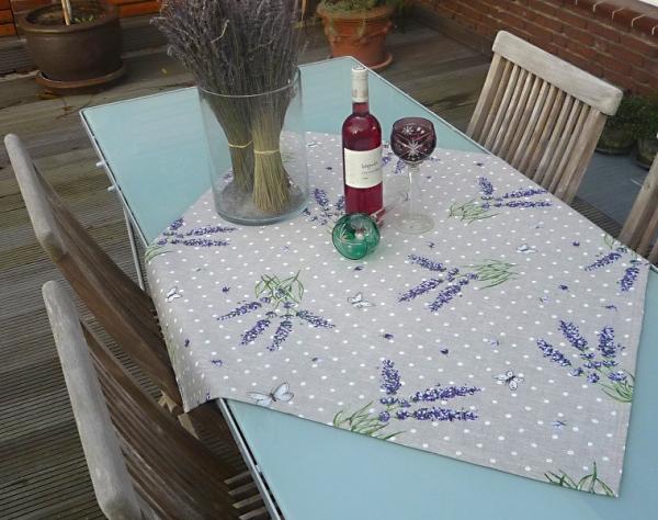 Tischdecke Baumwolle natur 90x90 cm Papilotte lin aus Frankreich Provence