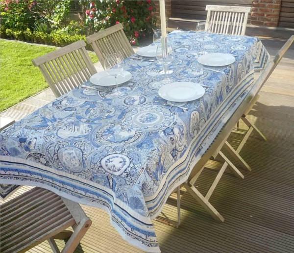 Noblesse – Luxuriöse Gobelin Tischdecke Lilles bleu