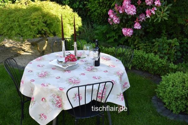 Liaison in Rosé - Zauberhafte Jacquard-Tischdecke Rosalie