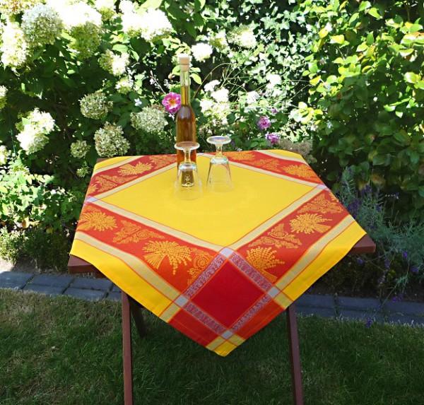 Tischdecke Jacquard gelb 90x90 cm Lavande jaune aus Frankreich Provence