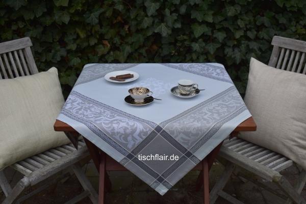Schön gedeckt! – Schicke Jacquard-Tischdecke Cremant in Grau