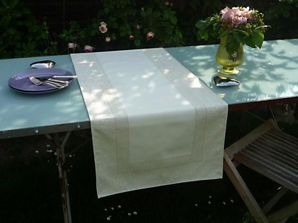 Tischläufer Provence 50x160 cm Baumwolle Jacquard Marchand nature