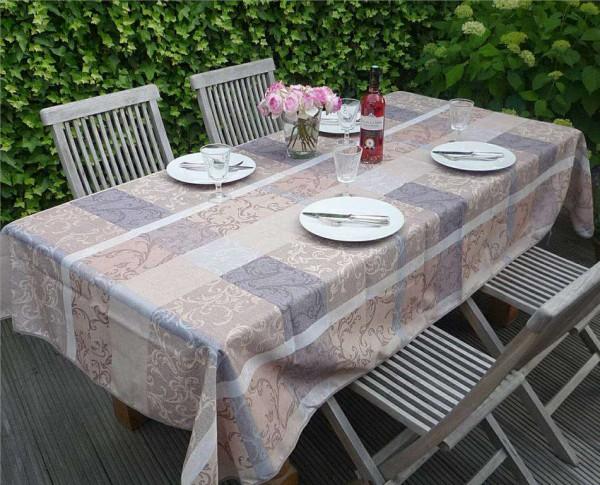 Tischdecke Provence 150x240 cm beige Ornamentmotiv aus Frankreich