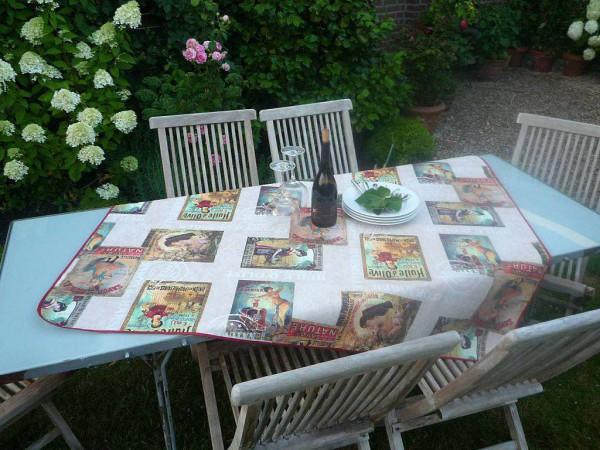 Tischdecke Provence 130x150 cm creme Retromotive aus Frankreich
