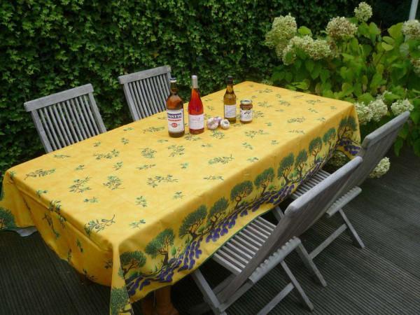 Tischdecke Provence 150x240 cm gelb Oliven Lavendel aus Frankreich
