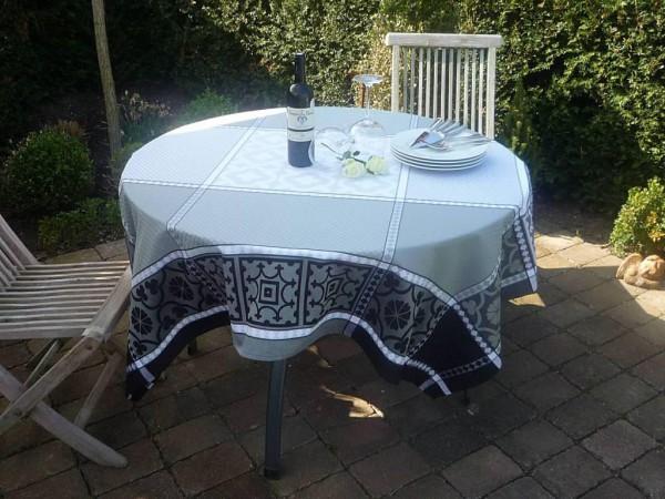 Tischdecke Provence 160x160 cm Baumwolle Jacquard Clermont gris