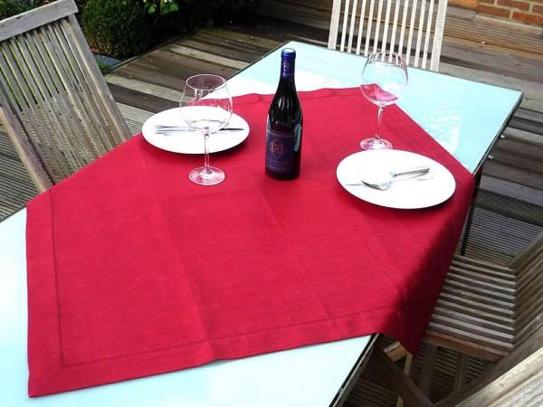 Ganz in Rot! – Jacquard-Tischdecke Fournier rouge