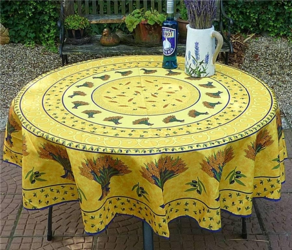 Eine Frage der Ähre – Pflegeleichte Tischdecke in Sonnengelb 2